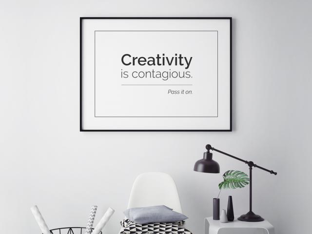 CREATIVITY grafika na ścianę- zdjęcie główne