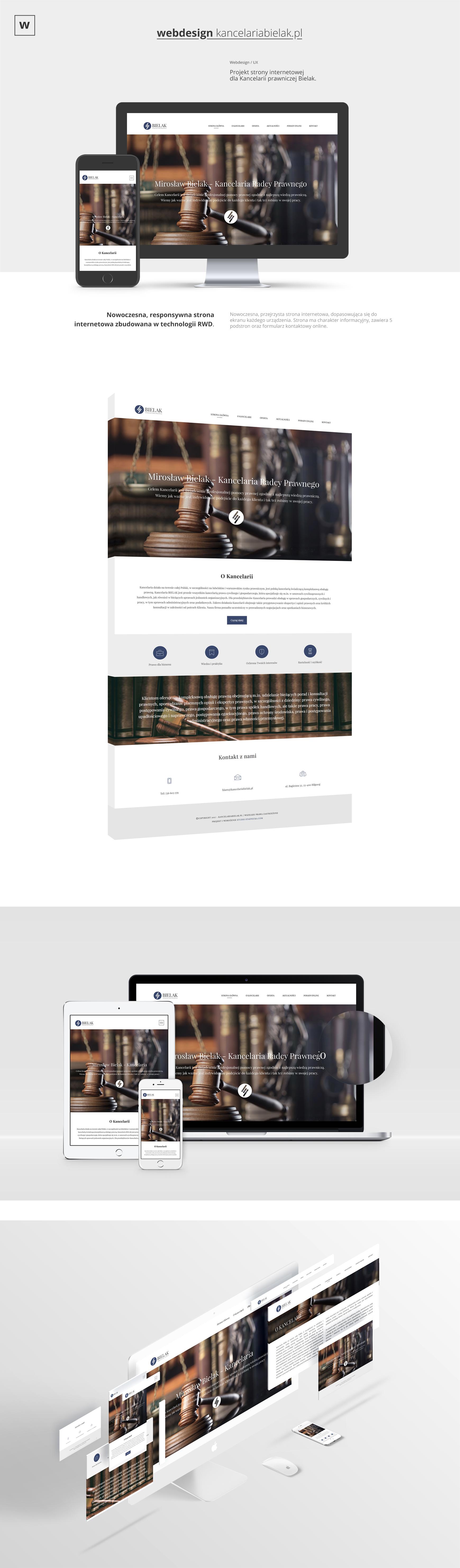 prezentacja strony kancelaria bielak