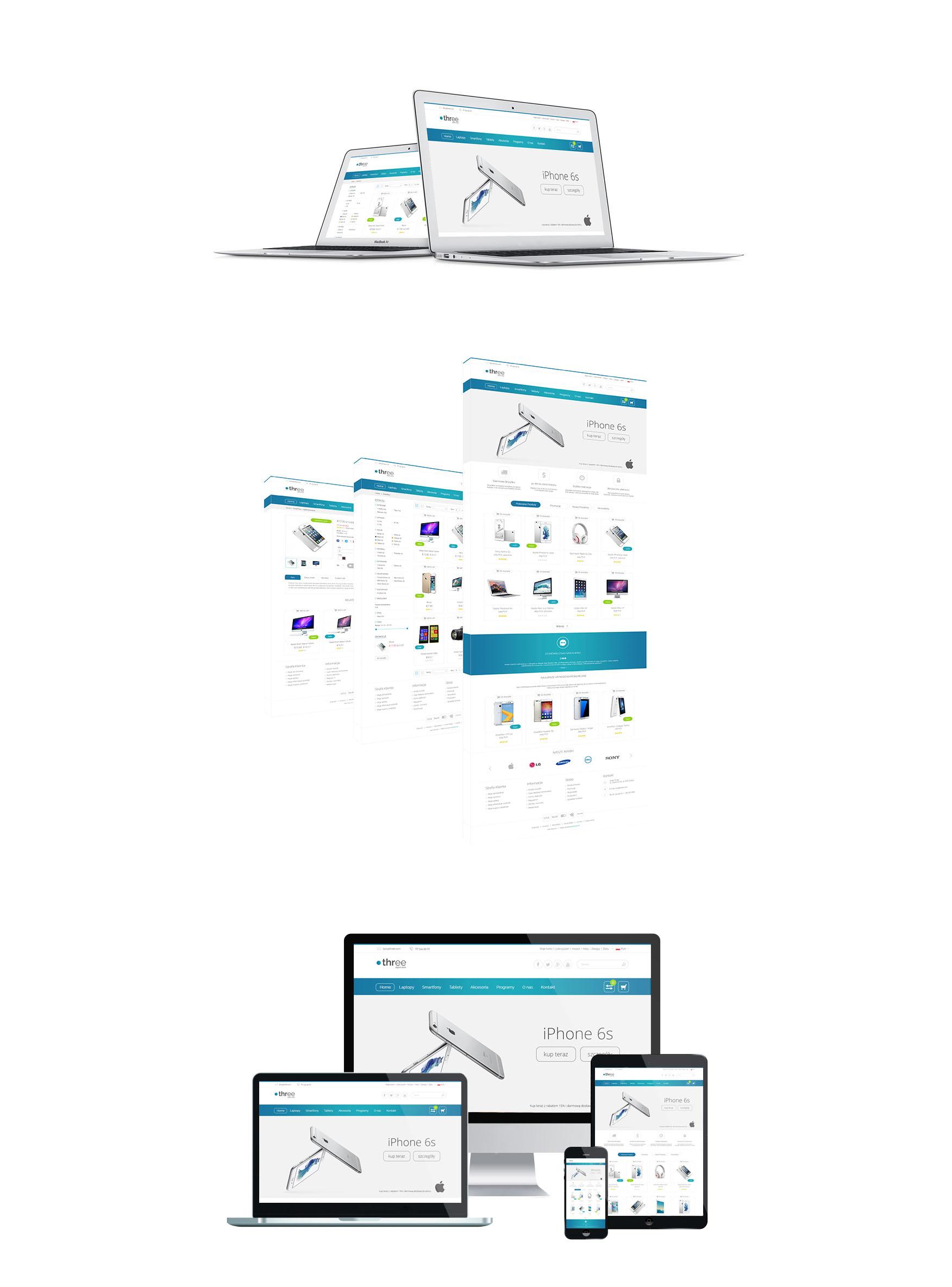 prezentacja sklepu three - urządzenia mobilne