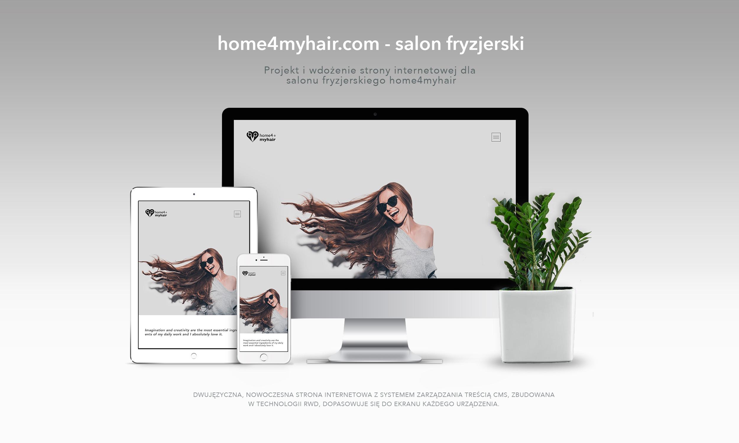 home4myhairprezentacja strony na urządzeniach